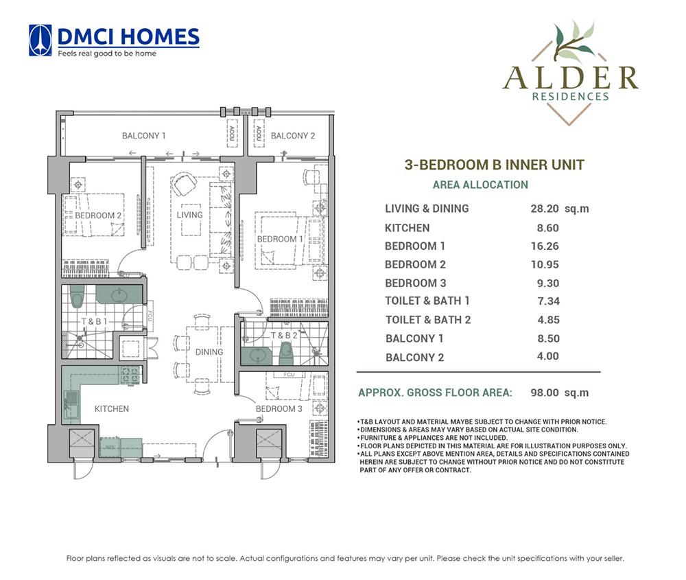Alder Residences 3BR B
