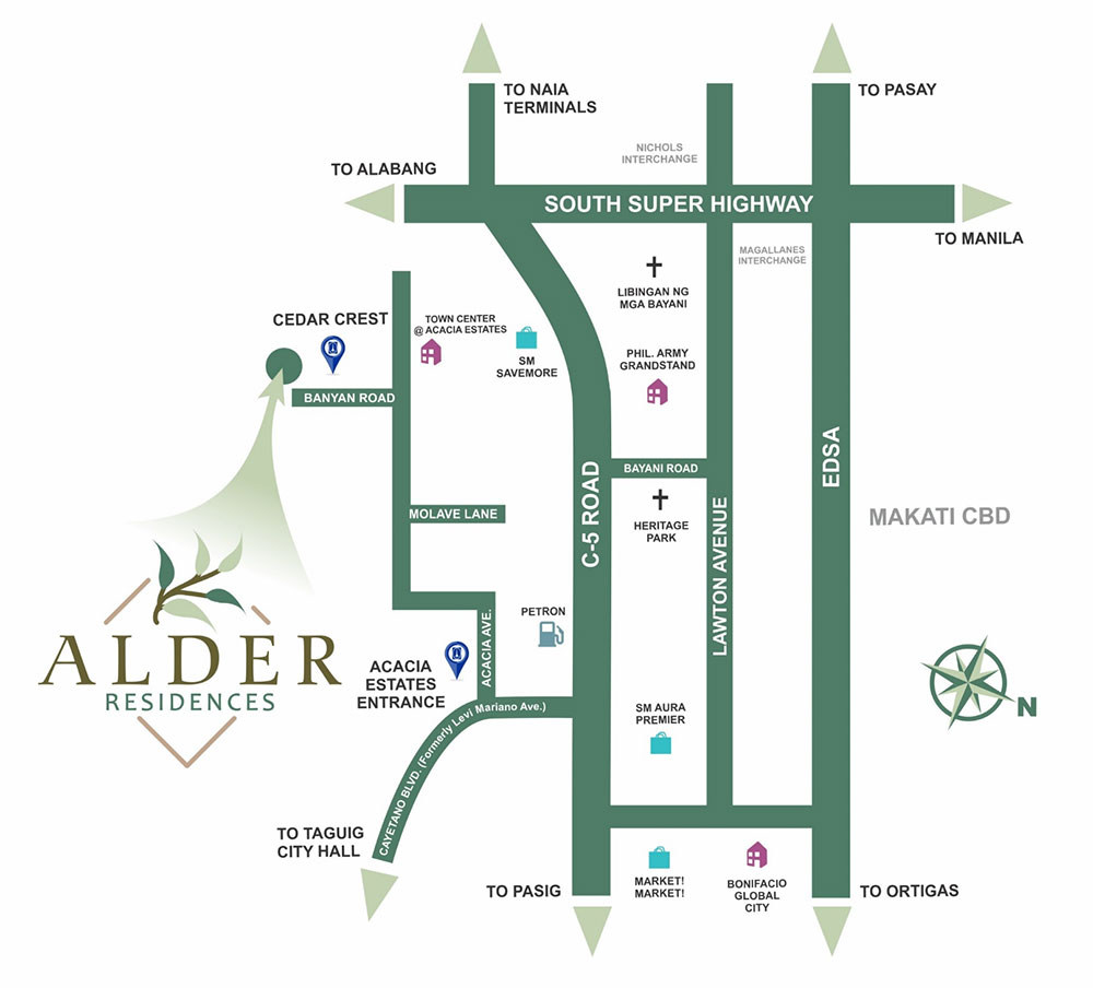 Alder Residences Location Map