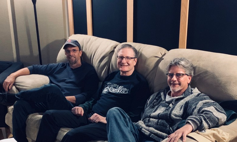 Bob, Red, and David in the studio