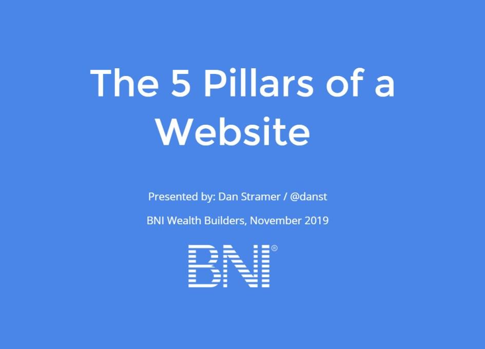 The 5 Pillars of a Website