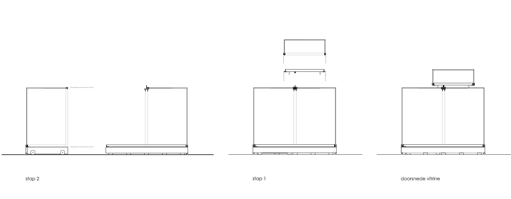 principe vitrine - Vitrine ontwerp