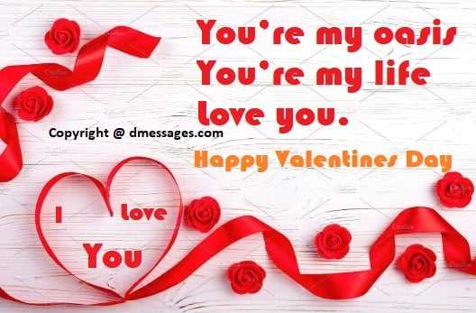 Happy valentines day message to my wife