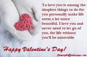 Valentine quotes for him