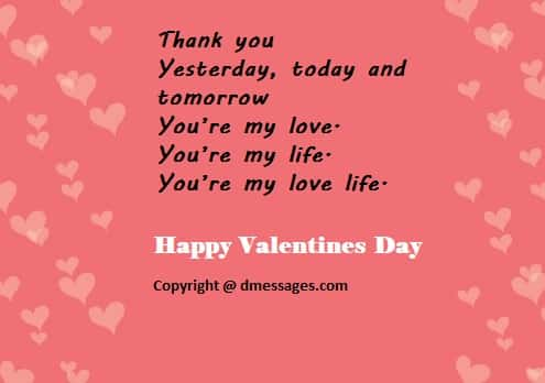 Valentines day love messages for him