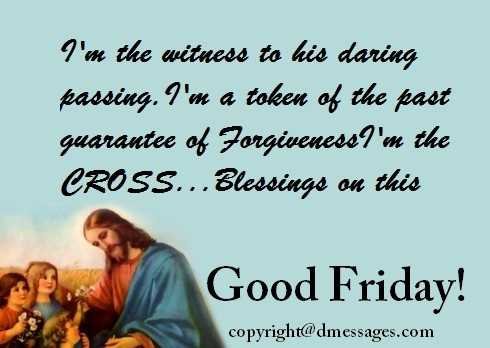 good friday wishes sms