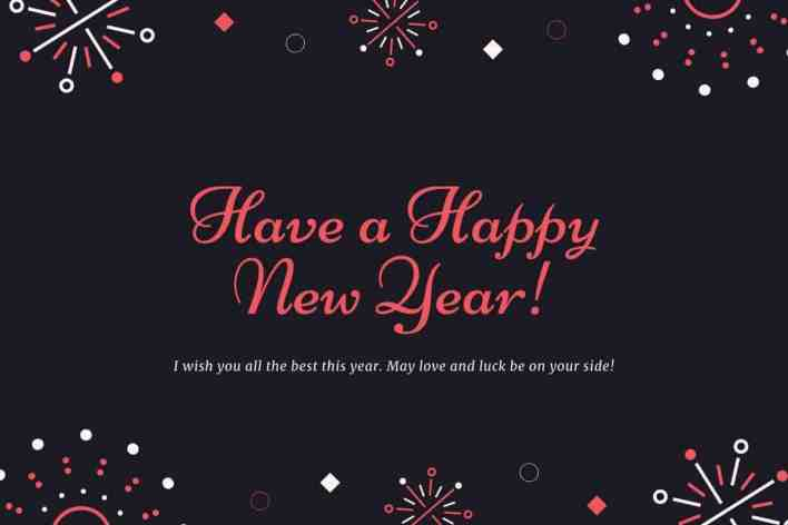 Happy New Year Wishes For Him