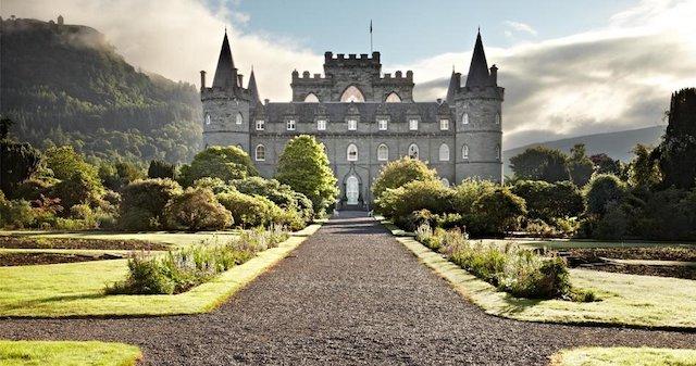 big castle in the highlands