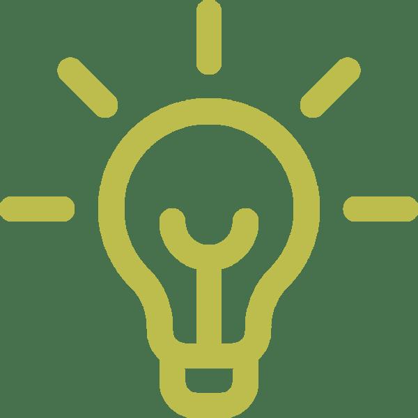 pictogramme représentant une ampoule symbole du savoir