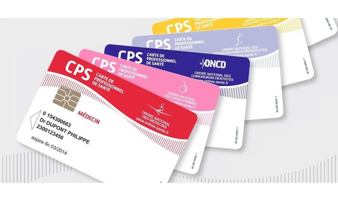 cartes CPS de divers professions