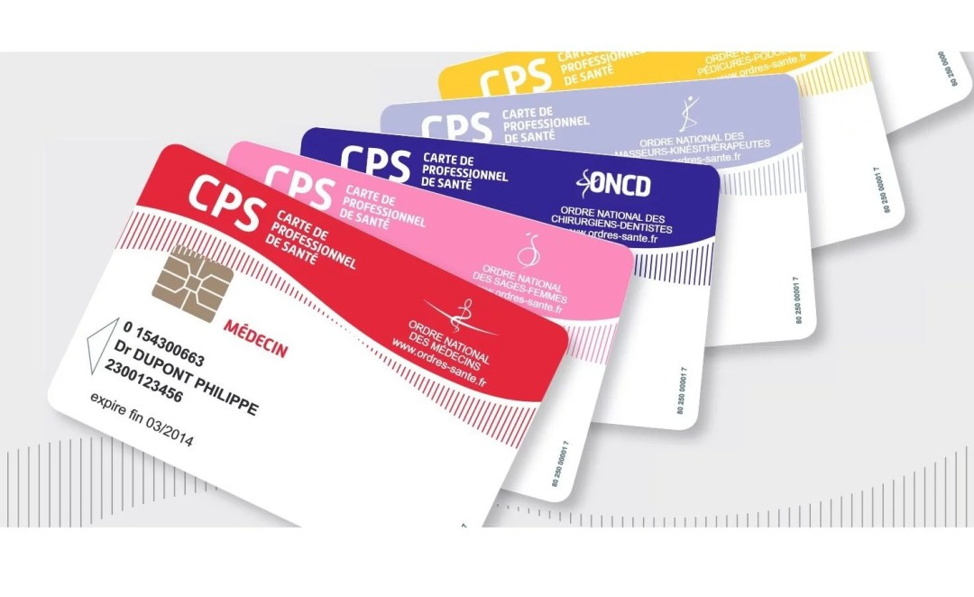 cartes CPS de divers professions