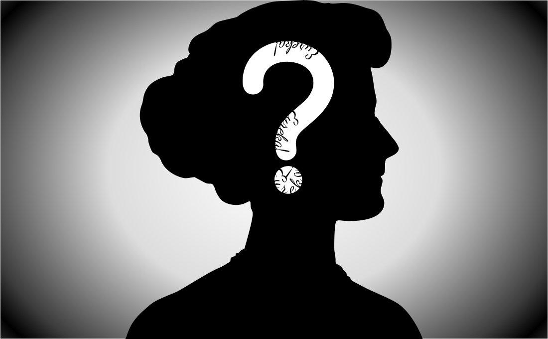Mujer - duda - momento eureka
