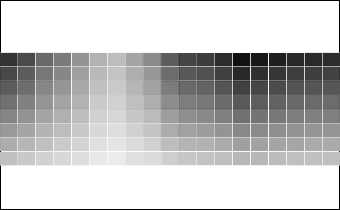 Tabla de colores en gris.