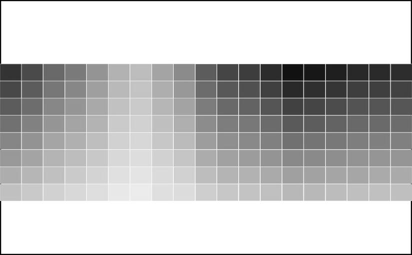 Tabla de colores en gris.