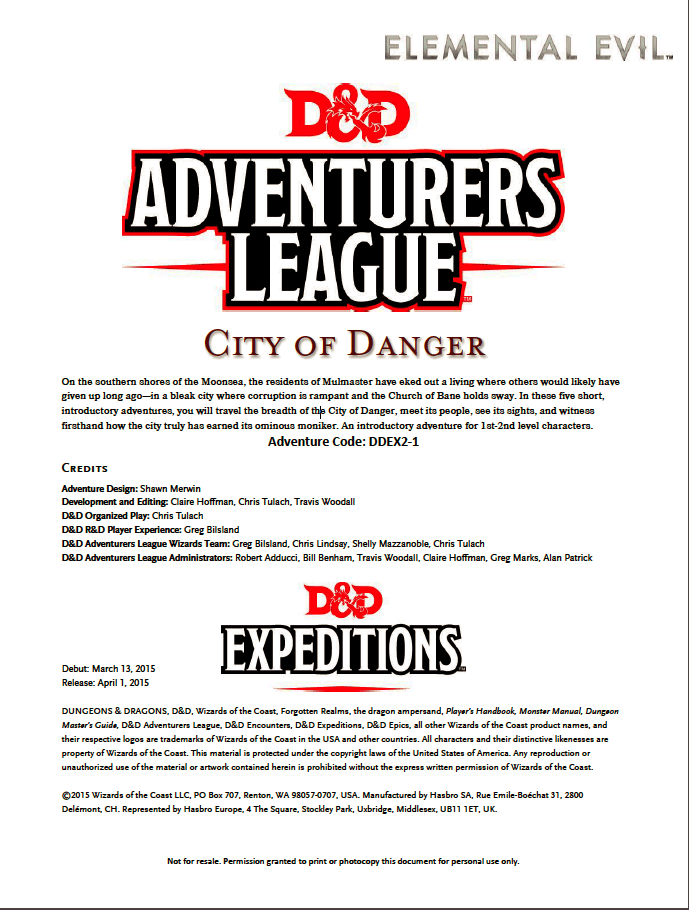 The Great List of Dungeons & Dragons 5E adventures