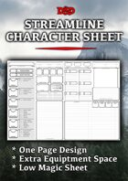 Character Sheet  Fillable Form    Dungeon Masters Guild   Dungeon     Streamlined Character Sheet  5e