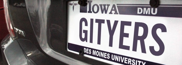 Get your DMU license plates!