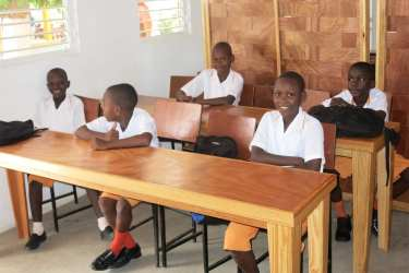 One hundred forty-eight children now attend the recently completed school.