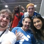 Me with YouTube sensation Lasercon, actress Janina Gavankar from TrueBlood, and Tiltify Host