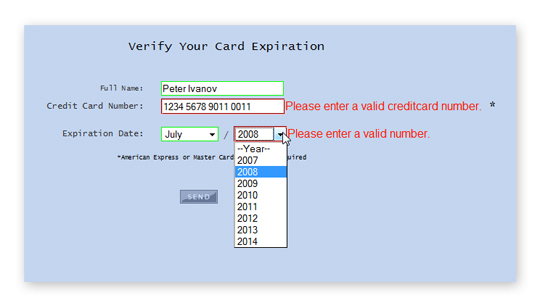 Image result for credit card validate