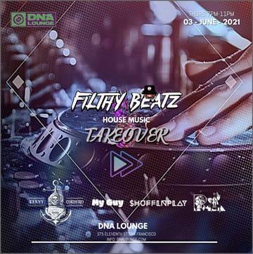 Filthy Beatz / Fast Forward: Parklet Party Flyer