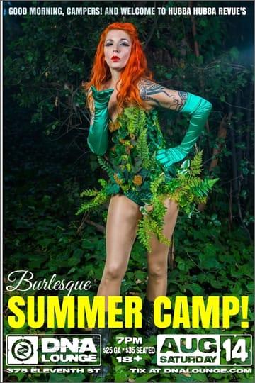Hubba Hubba Revue: Summer Camp Flyer