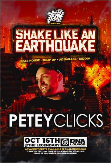 Shake Like an Earthquake Flyer