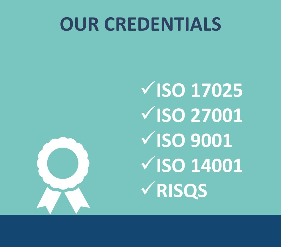 ISO and RISQS accredited