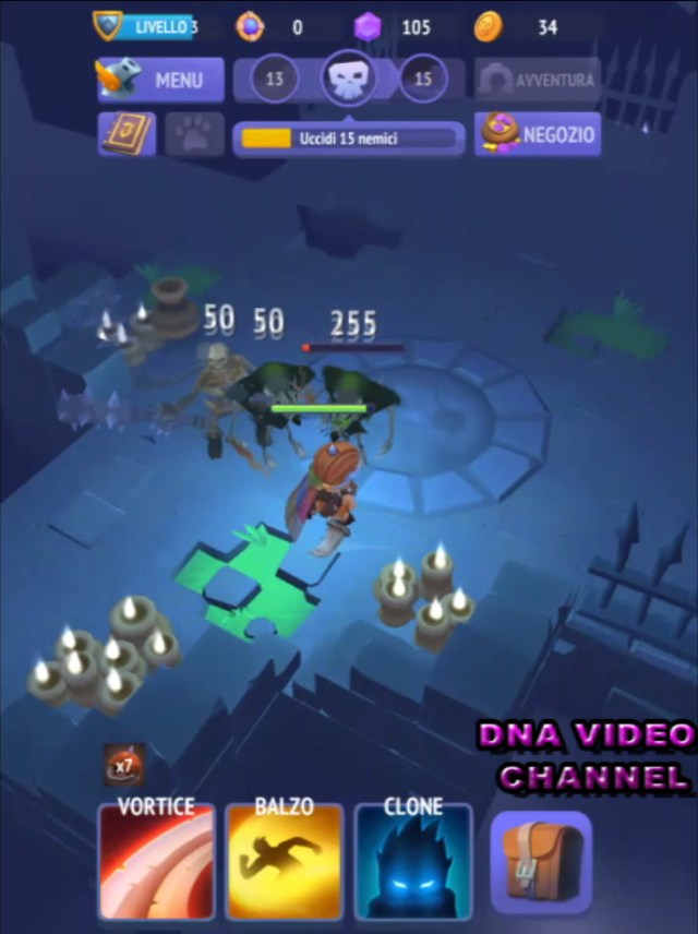 Top Android free RPG offline games - Nonstop Knight combattimento
