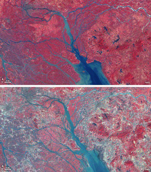 Делтата на Перлената река в Китай вече е най-голямата ...