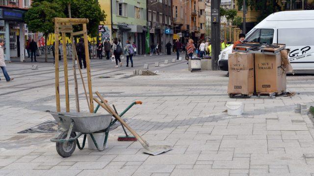 """Софийската улица """"Граф Игнатиев"""" на финала на ремонта"""