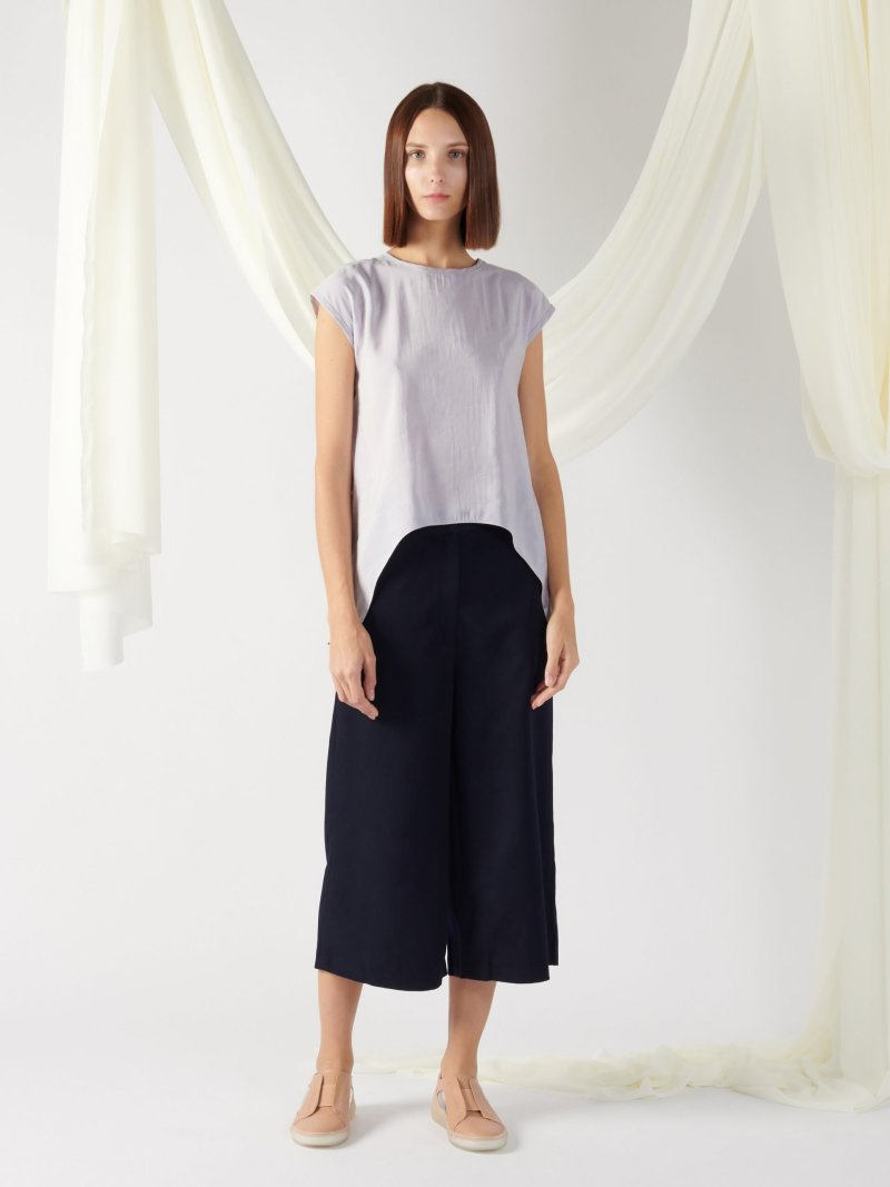 top with back slit in mist