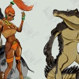 Ilustración de guerreros
