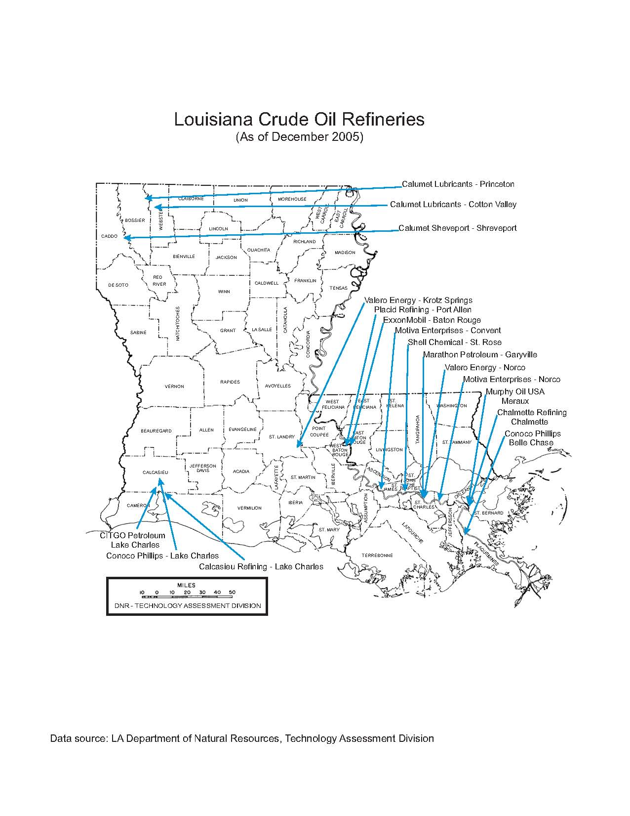 Refinery And Other Oil Amp Gas Related Maps