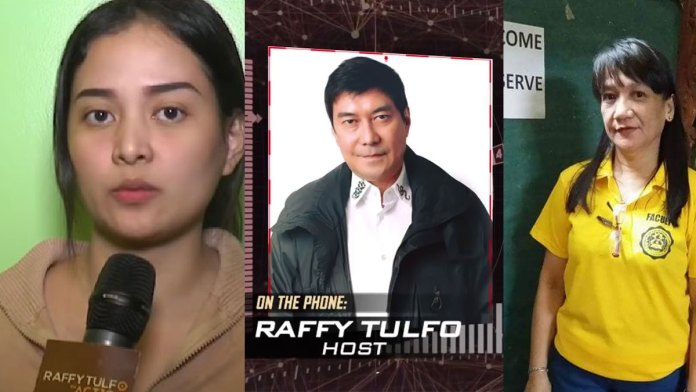 Composite photo of Raffy Tulfo and the complainant. | Photo from Youtube.
