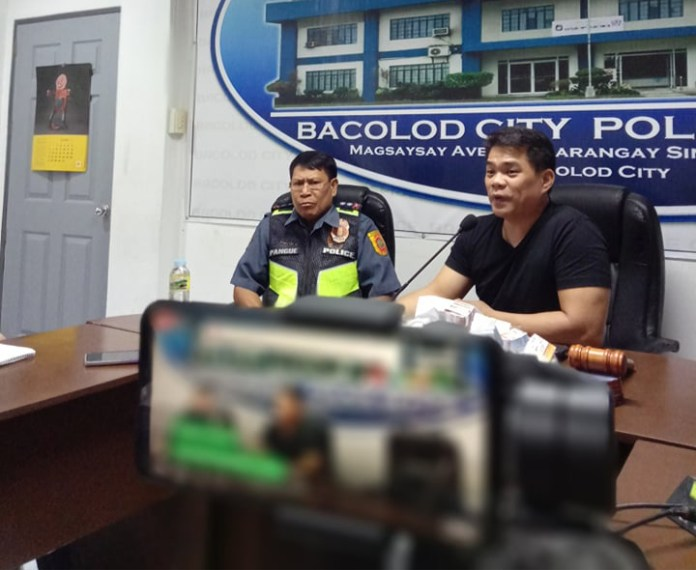 City Councilor Al Victor Espino and acting city director, Police Lt. Col. Levy Pangue, answered allegations against them on claims by a Manila-based event organizer who claimed she was owed at least half a million pesos for a charity basketball game here last October. | Photo by Richard D. Meriveles