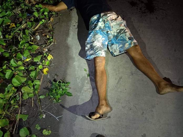 Alias Rigor, dead right at the spot where he was shot, two days away from Christmas eve. | Photo courtesy of BCPO.