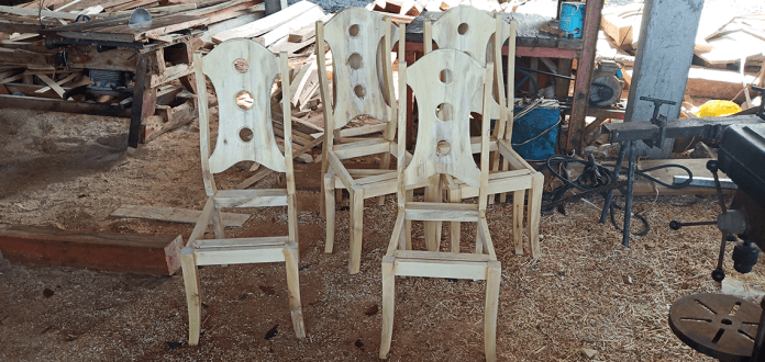 One of the fast moving products of Handswork Furniture that could last a lifetime. These chair frames are being prepared for their next stage of processing. | Photo by Richard D. Meriveles