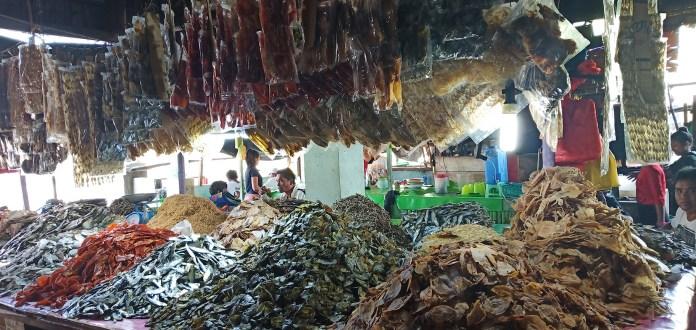 Mounds of dried fishes (uga) at the Cadiz City Public Market. | Photo by Richard D. Meriveles