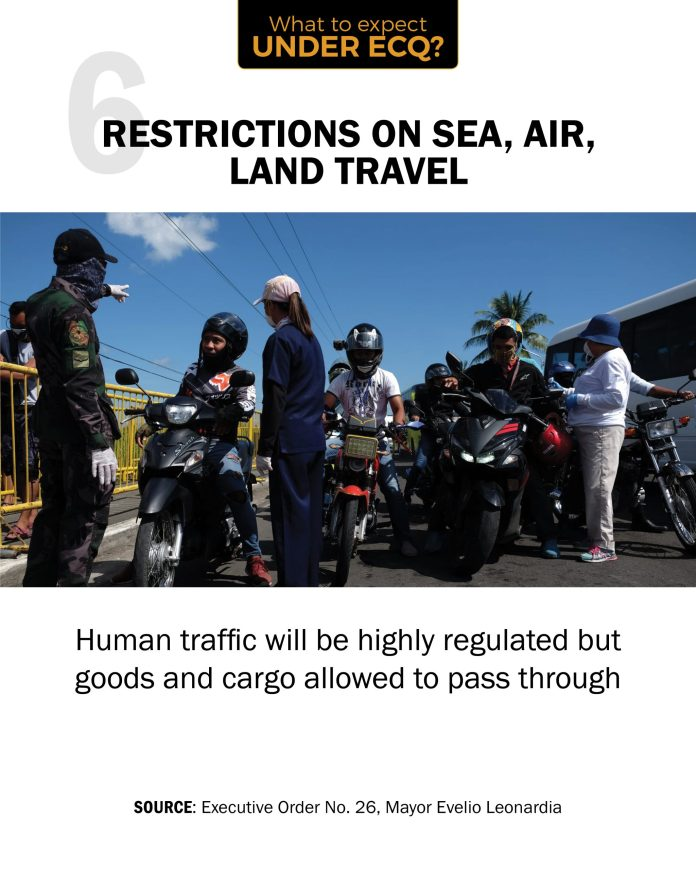 Human traffic will be highly regulated but goods and cargo allowed to pass through