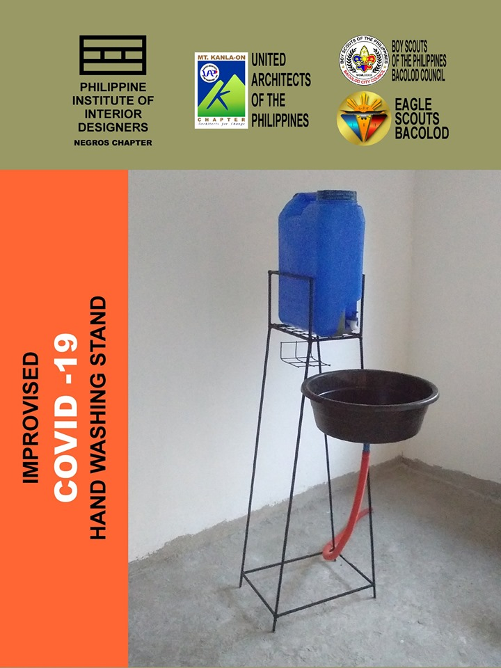 The Improvised COVID-19 Hand Washing stand. | Photo from Dominic Diocson.