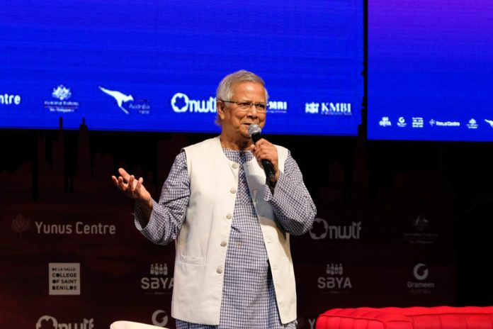 Professor Yunus during the First Social Business Youth Summit (co-presented by NWTF) Manila, Philippines last 22 to 23 March 2019. | Photo furnished by NWTF