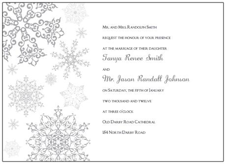 Free Winter Wedding Invitation Templates Paperinvite Snowflake Template