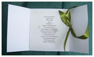 Irish Scottish Wedding Invitation