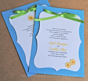 Daisy Wedding Invitations Diy Ideas