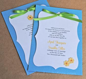 Daisy Wedding Invitations Diy Ideas