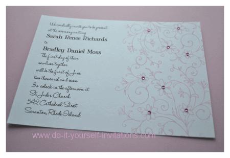 Homemade Wedding Invitation Kits