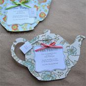 Tea Party Bridal Shower Printable Invitation