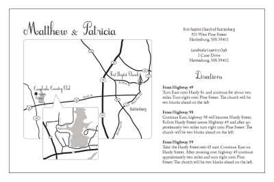 Custom Wedding Invitation Maps