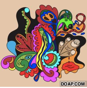 trippy stoner mural