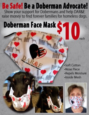 Doberman Face Mask